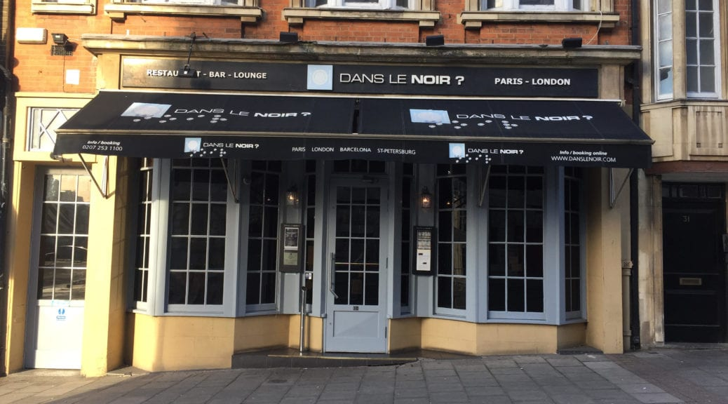 london restaurant dans le noir millennial travel the millennial runaway. Black Bedroom Furniture Sets. Home Design Ideas
