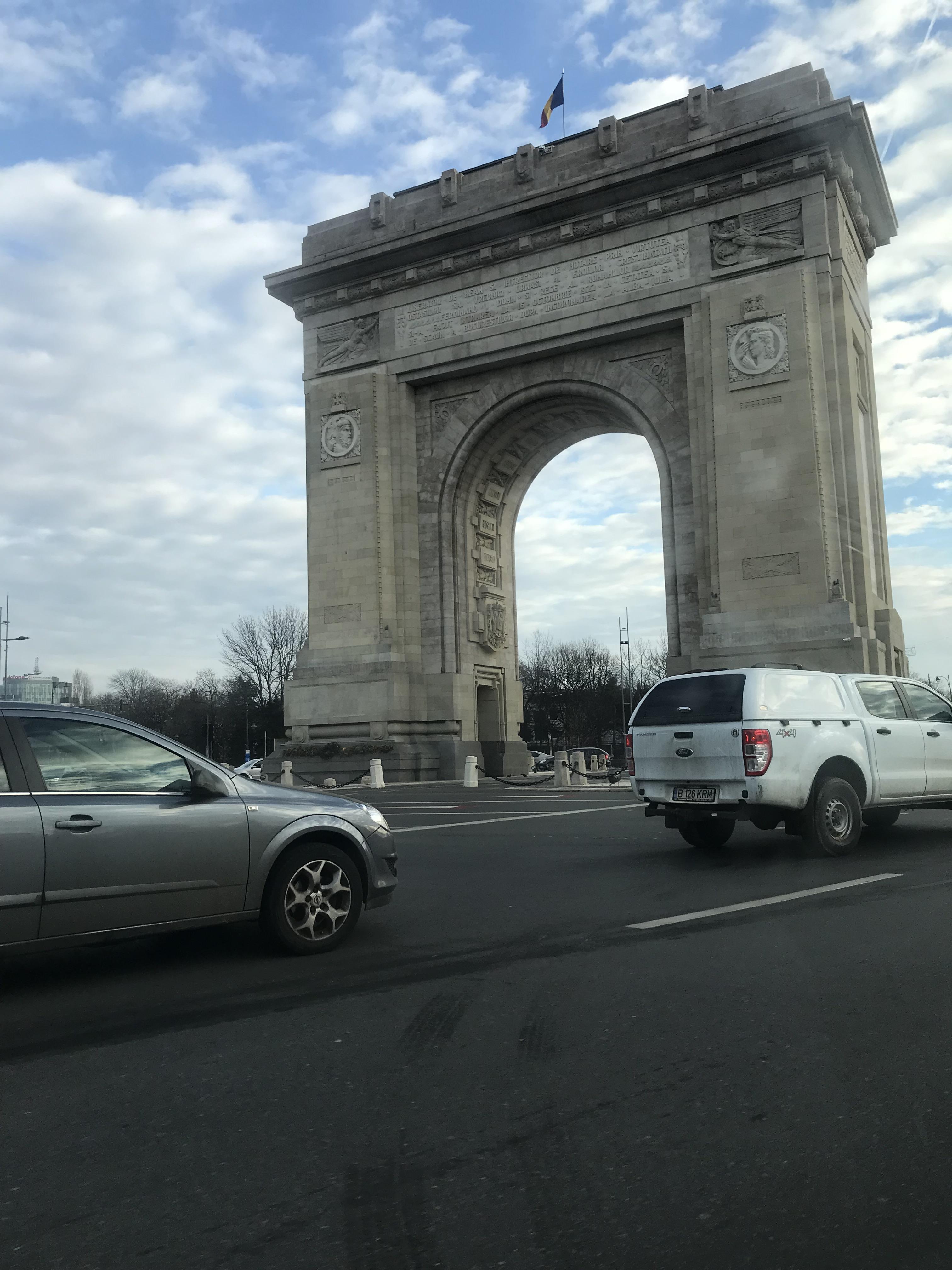 Arcul De Triumf in Bucharest, Romania