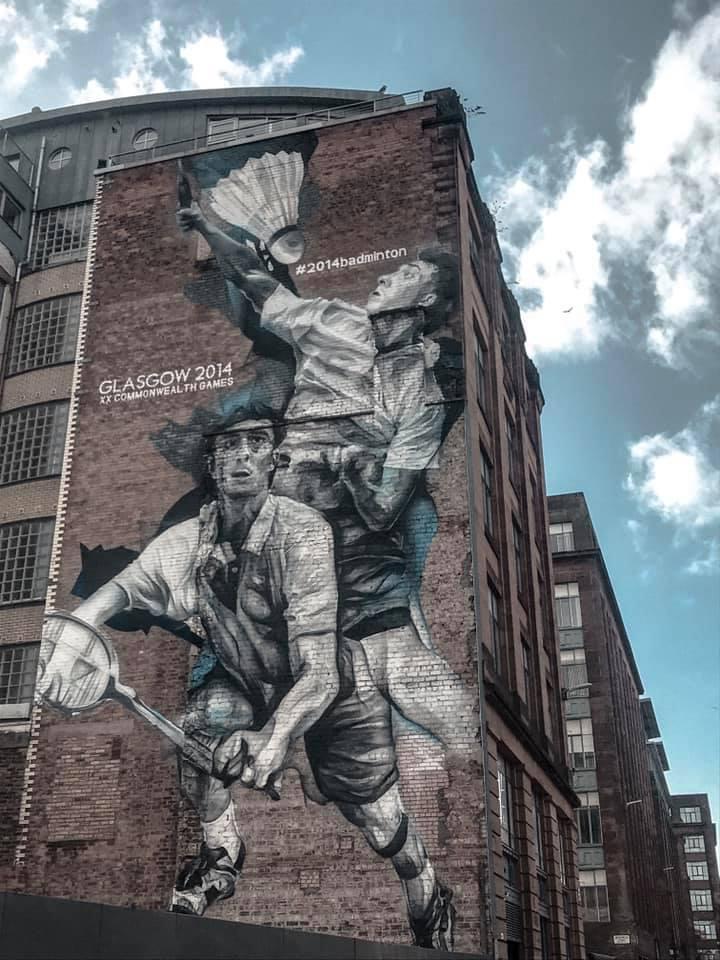 Badminton Mural Glasgow