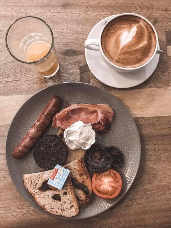 Glasgow Cafe Gandolfi Scottish Breakfas