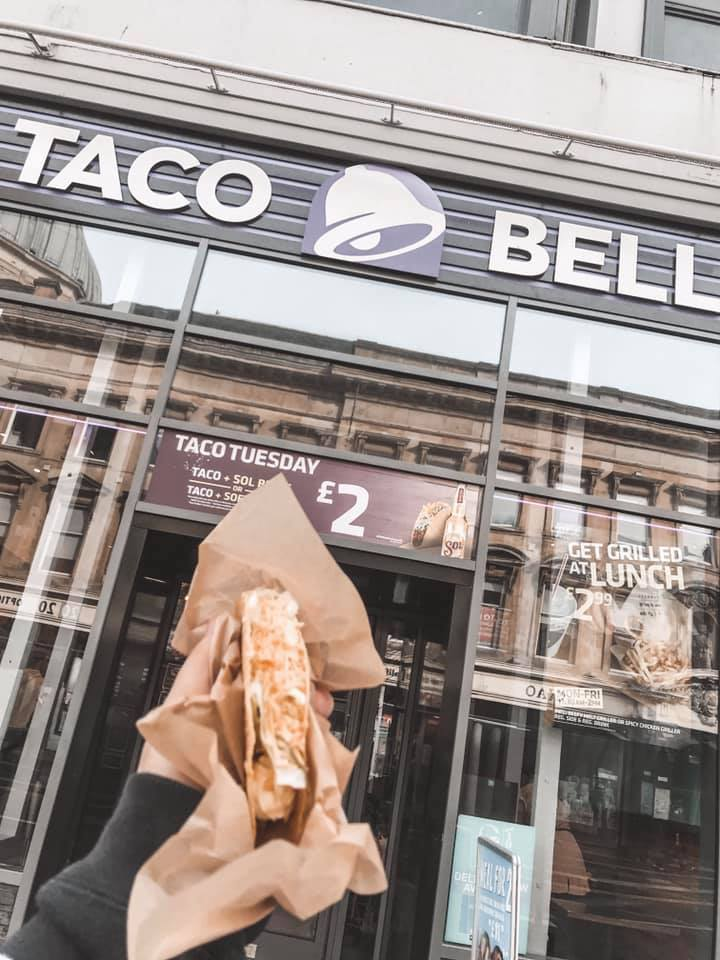 Glasgow Taco Bell - its first ever Scottish branch