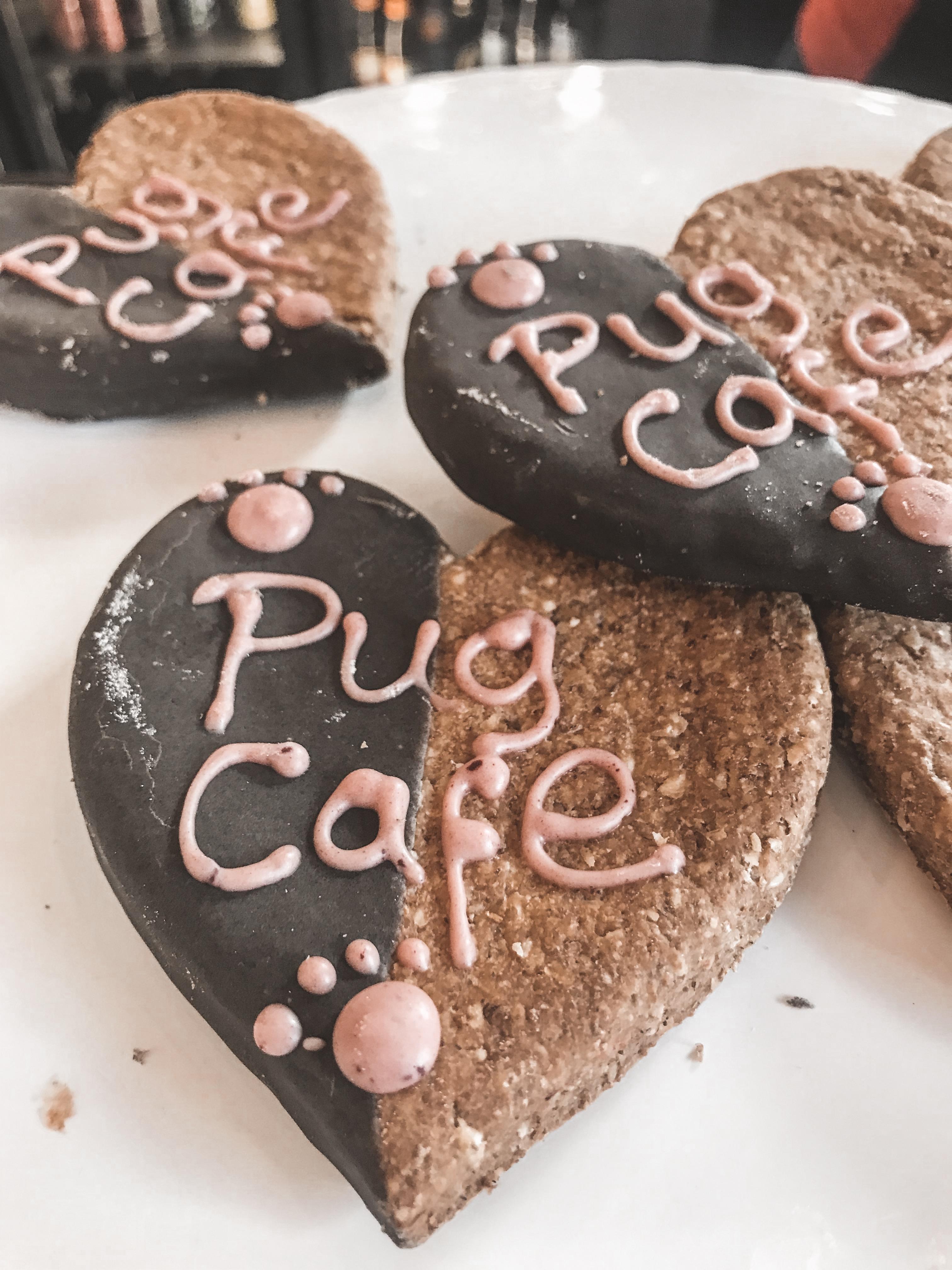 Pug Cafe Bristol pug cookies