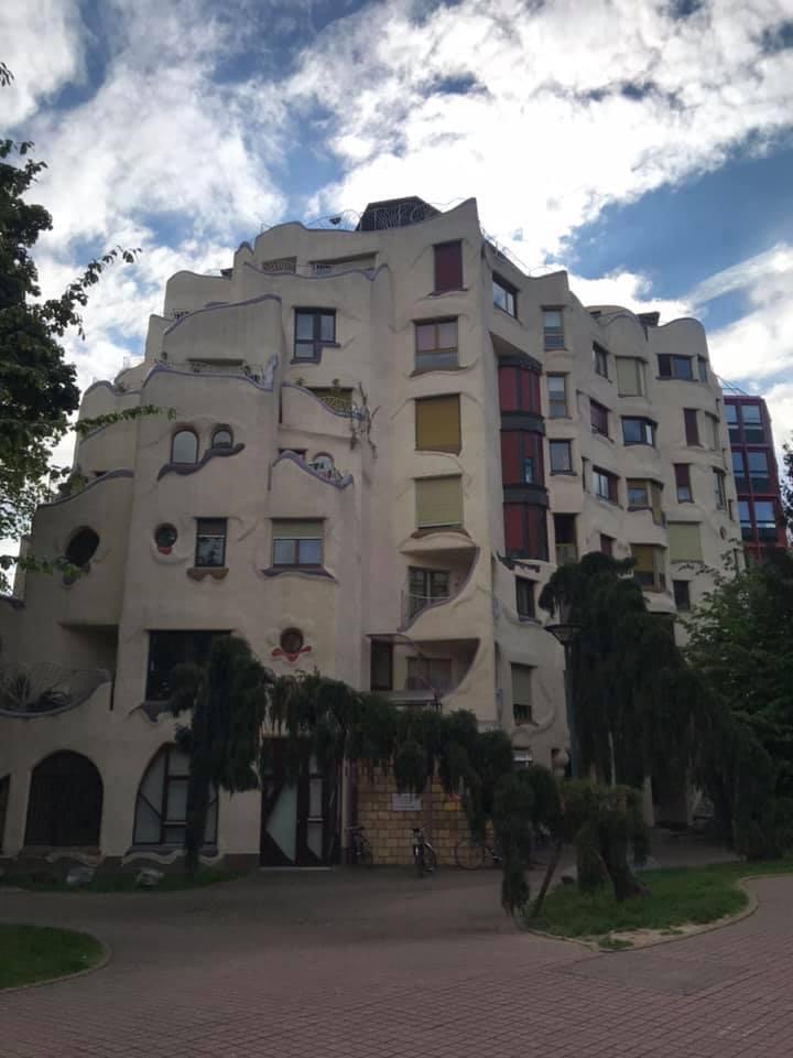 Geneva's Les Grottes Smurf Houses