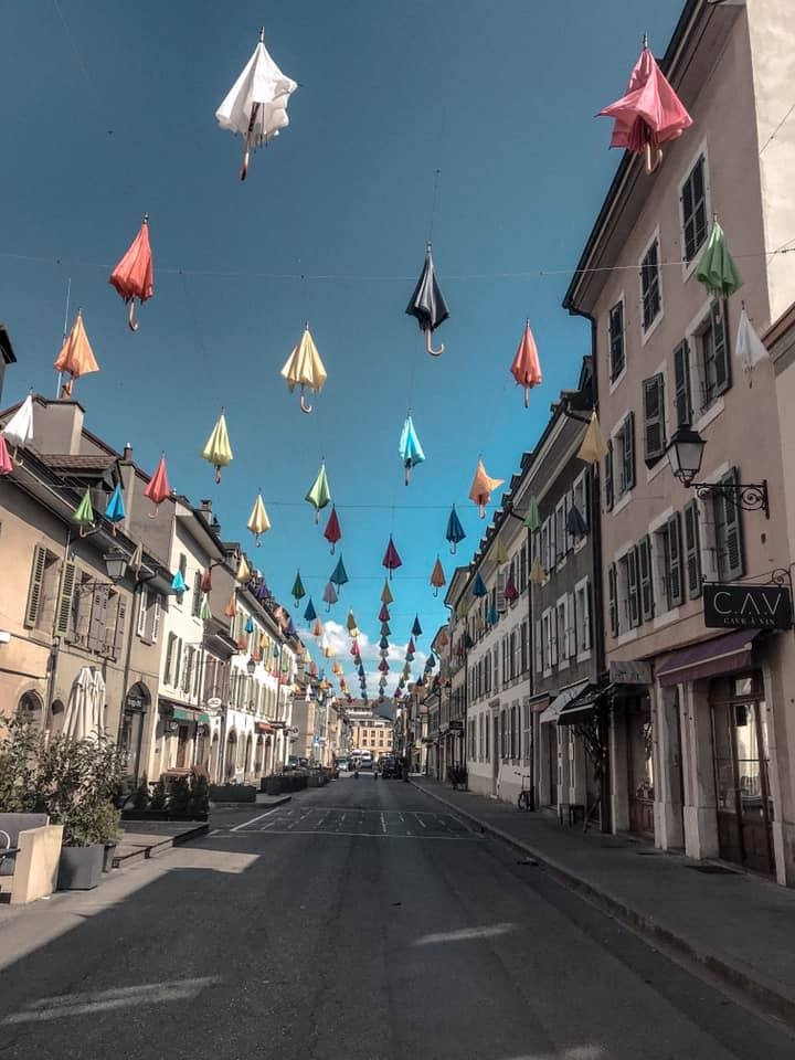 Free things to do in Geneva - Umbrella Street