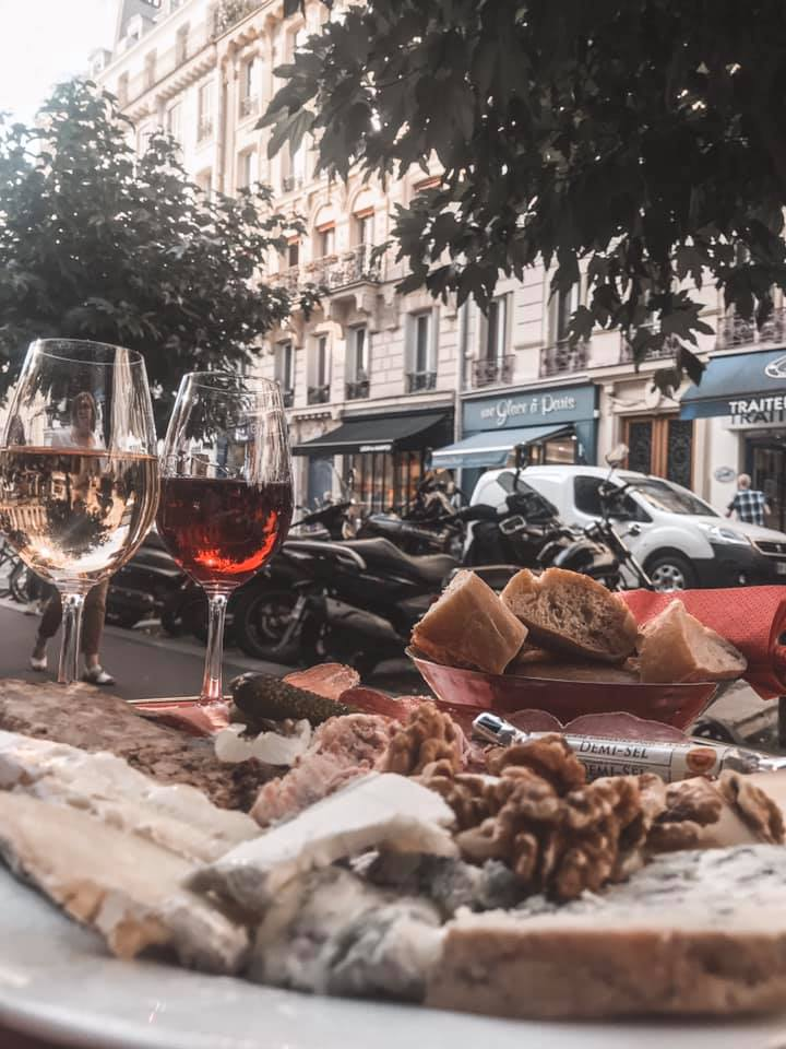 Charcuterie and Cheese Platter at La Cave des Abbesses