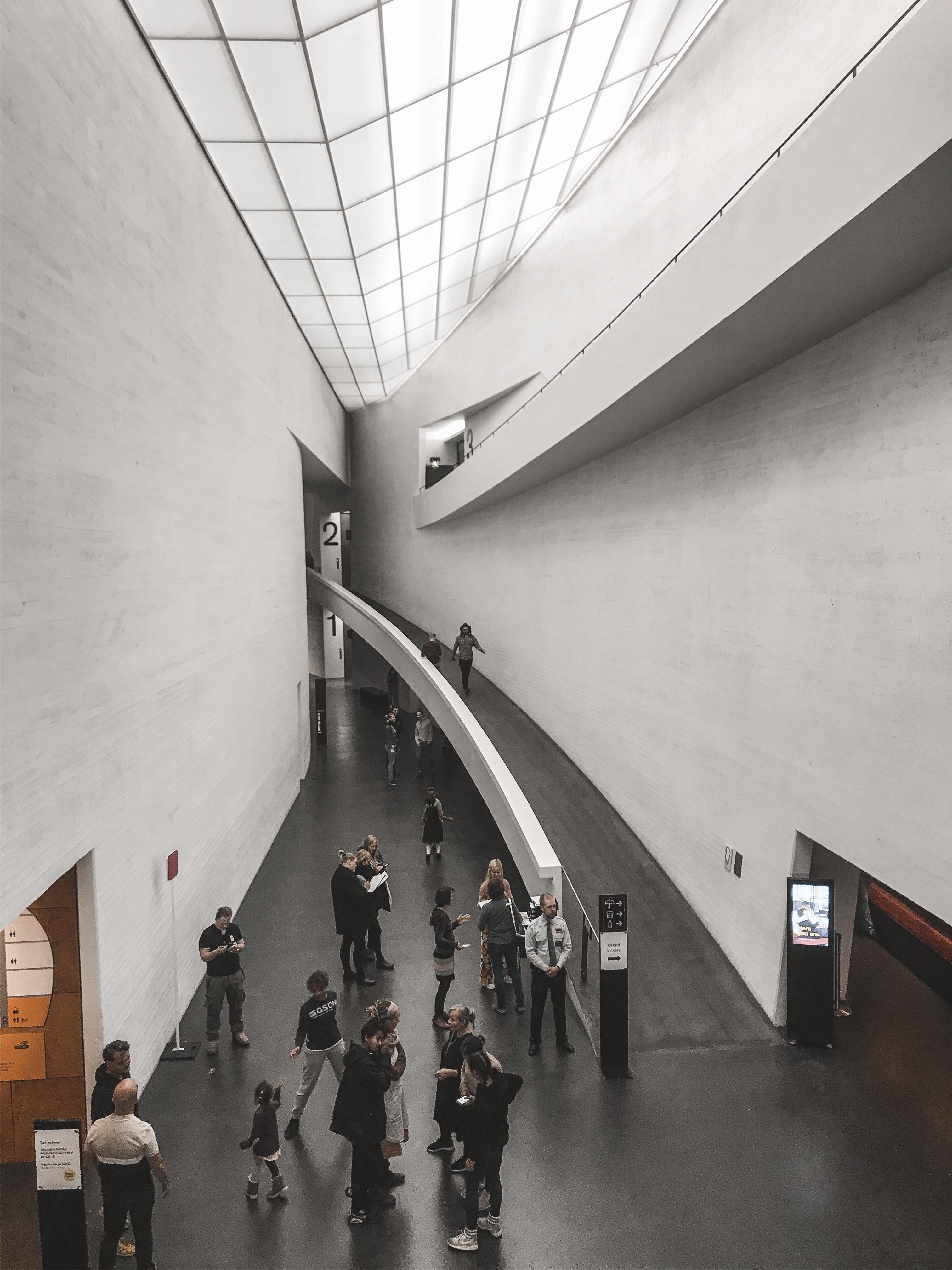 Kiasma Modern Art Museum in Helsinki, Finland