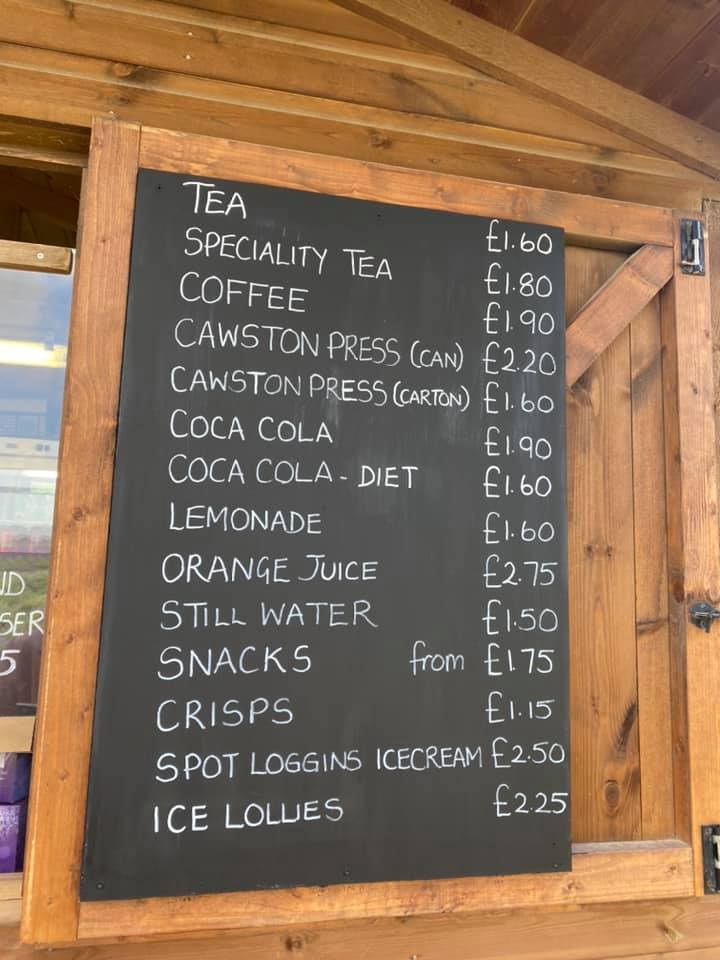 Drinks Menu at Cotswold Lavender