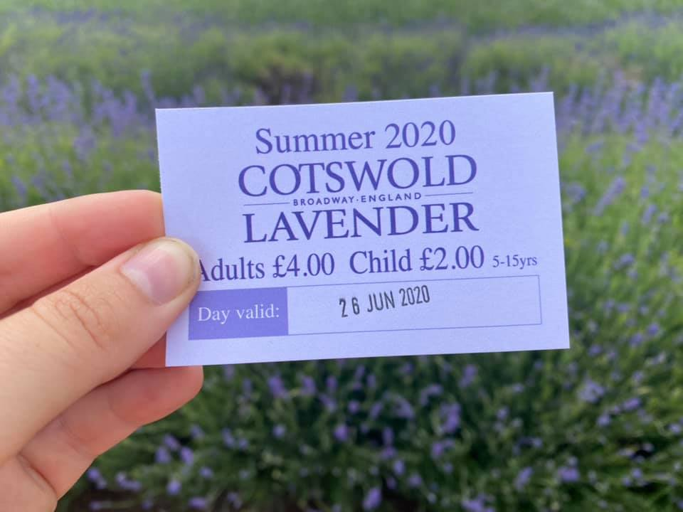 Entry ticket to Cotswold Lavender